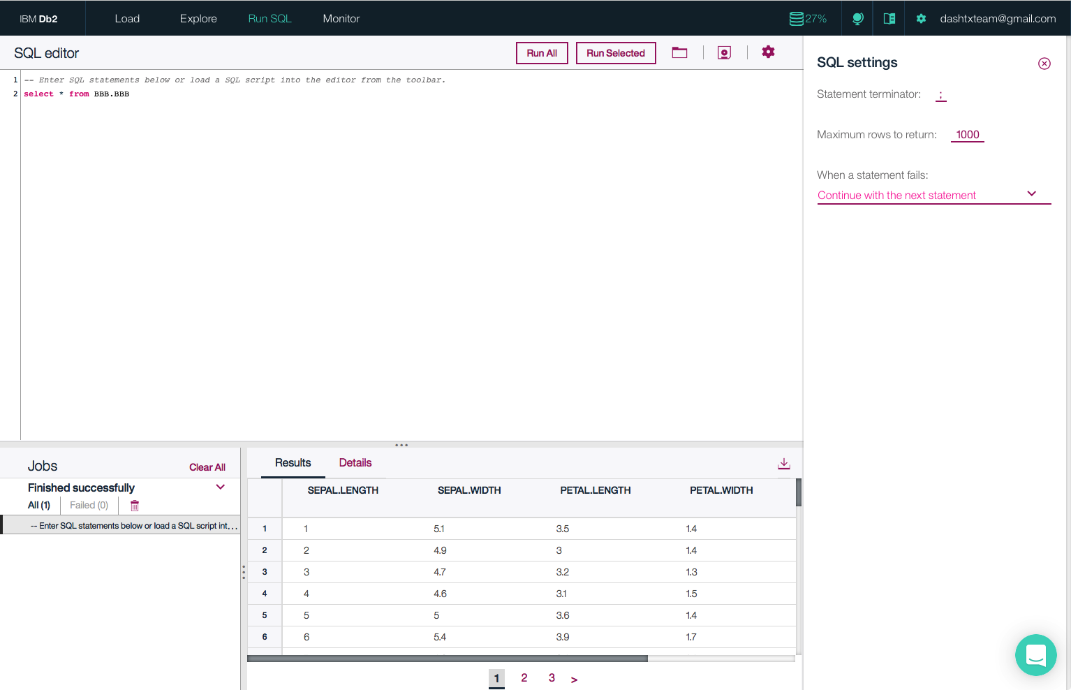 Get started right away using our easy to use SQL Editor